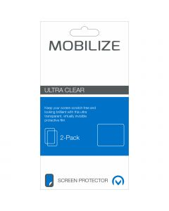 Mobilize Universal Clear 2-pack Screen Protector for Smartphones 8x14.3cm